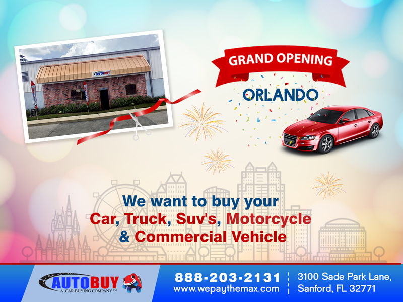 AUTOBUY Sets up Shop at Orlando Florida , Sell your Used Car Orlando